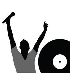 man singing music vector image vector image