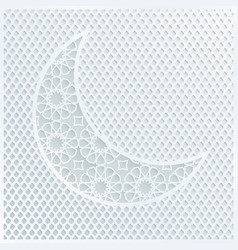 ornamental arabic half moon with decorative pale vector image vector image