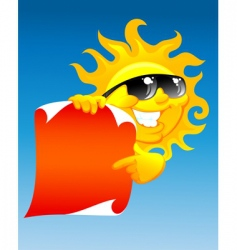 sun and scroll vector image vector image