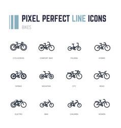 bike frames icons vector image