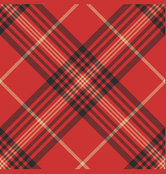 Check red tartan seamless pattern vector