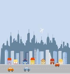 Cityscape downtown skyline vector