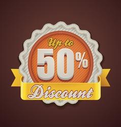 discount badge vector image vector image