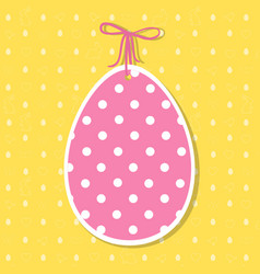 easter paper decoration in the form of egg easter vector image vector image