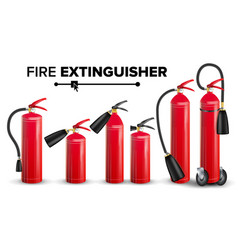 fire extinguisher set different types vector image