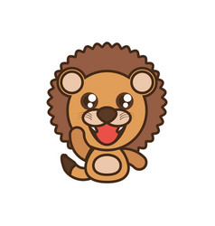lion baby animal kawaii design vector image vector image