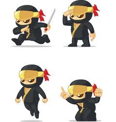 Ninja Customizable Mascot vector image