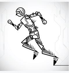 robot runing vector image