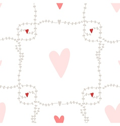 Seamless pattern with square wreath elements vector image