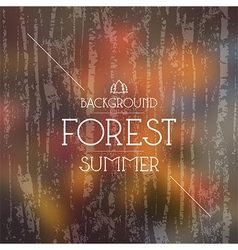 Summer forest background Warm colors vector image vector image
