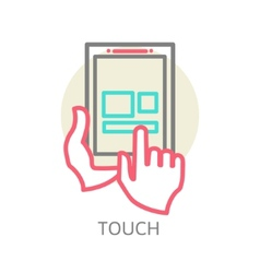 Touch screen tablet PC sign icon vector image