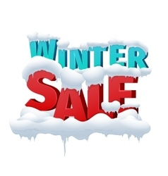 Winter sale 3d inscription on white vector image vector image