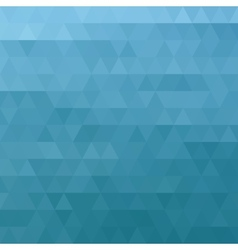 Abstract ocean blue geometric triangle background vector image