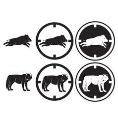 boar and wolf vector image