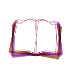 book sign colorful icon shaked with vector image vector image