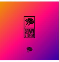 brainstorming logo vector image