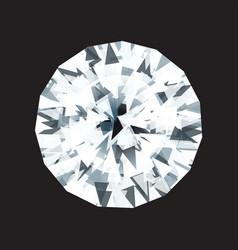 diamond on a black background vector image