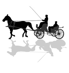 Horse carriage vector image