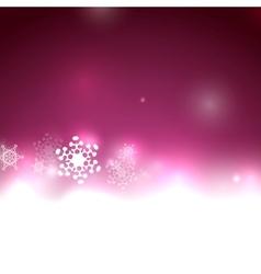 Purple Christmas lights and snowflakes vector image