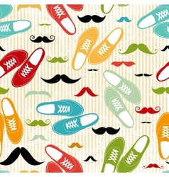 Retro shoes seamless background vector image vector image