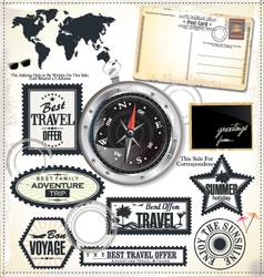 Travel design elements vector image vector image