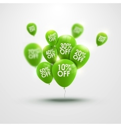 Trendy beautiful background with green baloons and vector image vector image