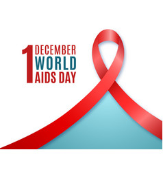 1st december world aids day banner with text and vector image