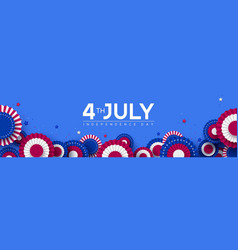 4th july usa independence day banner vector