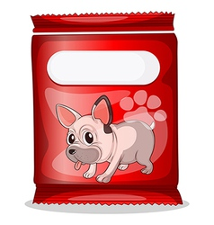 A packet of dogfood vector image