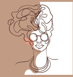 abstract portrait young african american woman vector image