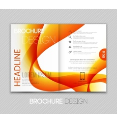 Abstract template brochure design with orange wave vector image