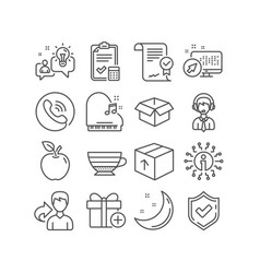 add gift cappuccino and opened box icons vector image