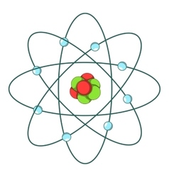 Atom icon cartoon style vector