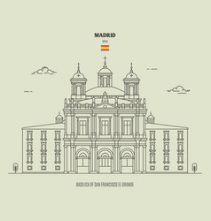Basilica san francisco el grande in madrid vector