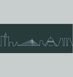 belgrade single line skyline vector image