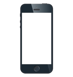 Black business mobile phone in iPhone 5 style vector image