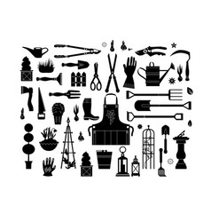 black garden set vector image