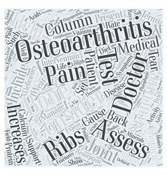 Brief History of Osteoarthritis and Back Pain Word vector