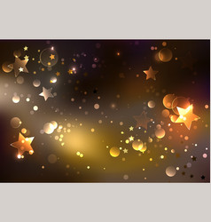 brown glowing background vector image
