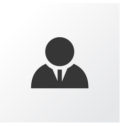 businessman icon symbol premium quality isolated vector image