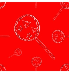 Candy Seamless Holiday pattern vector image