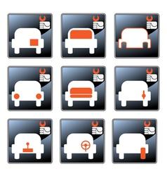 Car care centre symbolics vector
