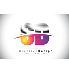 Cd c d letter logo design with creative lines and vector