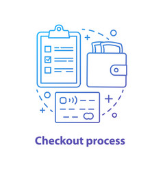 checkout process concept icon vector image