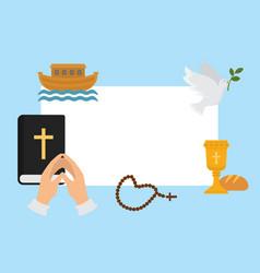 christianity religion symbols vector image