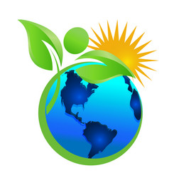 Cleaning the earth and the environment mother vector