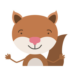 Colorful half body caricature of cute chipmunk vector