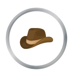 Cowboy hat icon in cartoon style isolated on white vector image