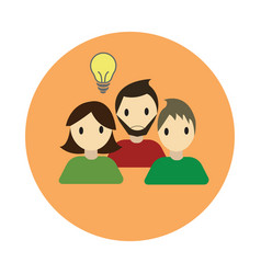 Coworking collaboration idea flat on white vector