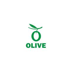 creative olive leaves alphabet symbol logo vector image